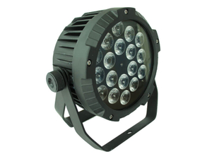 18pcs 18W RGBWAUV 6in1 Slim LED Outdoor Par Light